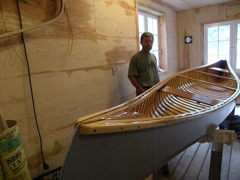Dave wooden canoe builder